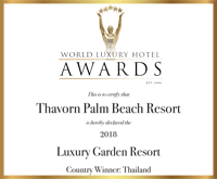 Award Wrld Lxury Hotel Aards Certify Thavorn Palm Luxury Garden Resort Beach Resort 2018
